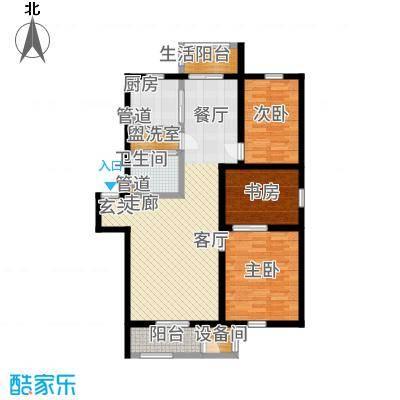 雅馨苑二期户型3室1厅1卫1厨