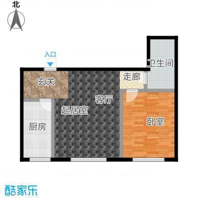 三鑫顺德园60.00㎡房型户型