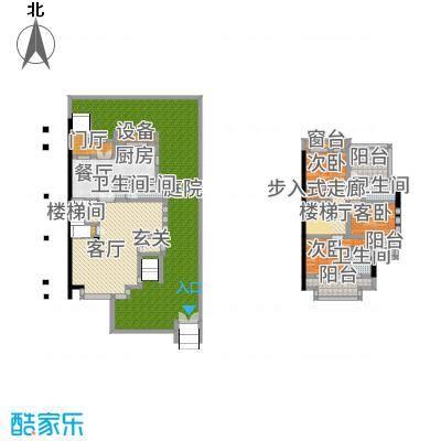 三江尊园200.00㎡一层二层-联排别墅--4套户型