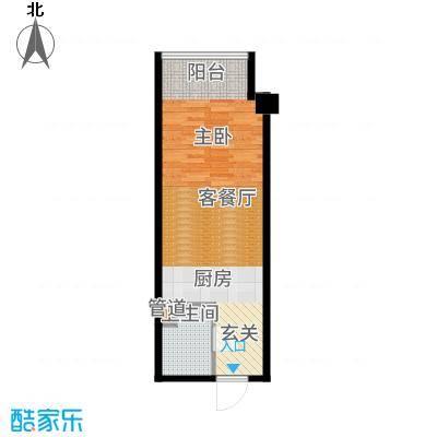 东方财富公寓44.81㎡D户型