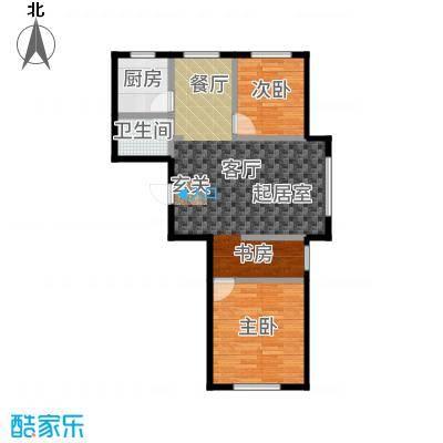 三鑫顺德园96.89㎡高层A户型