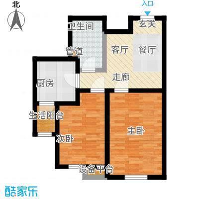 雅馨苑二期户型2室1厅1卫1厨