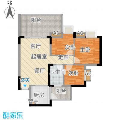 华南碧桂园95.00㎡十年华南组团温馨户型