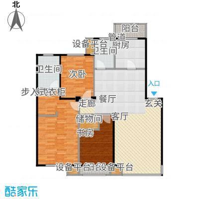 香域蓝山114.00㎡房型户型