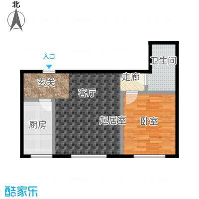 三鑫顺德园62.40㎡户型