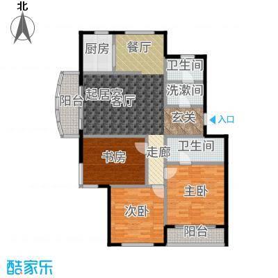 三鑫顺德园120.00㎡房型户型