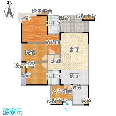 复地・上城国际公寓上城国际公寓87.00㎡复地新城就75、76号楼B4户型