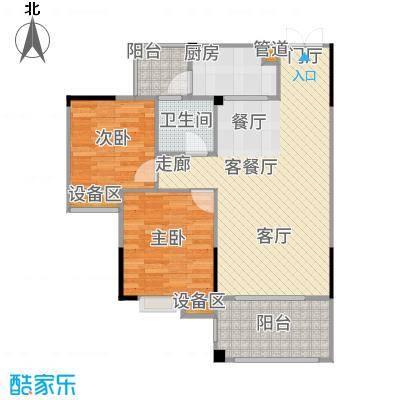 圣豪帝景户型2室1厅1卫1厨