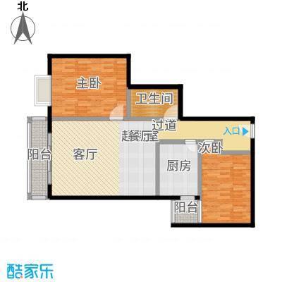 天天家园106.27㎡二居室户型