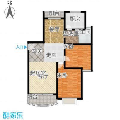 雍江星座90.48㎡房型户型