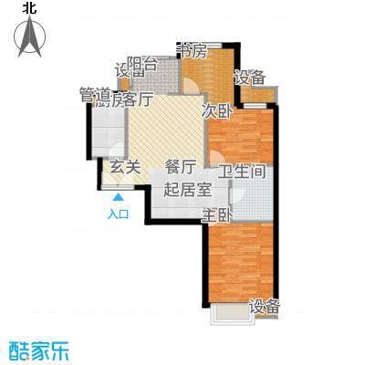 首开国风美唐91.00㎡北区14号楼标准层2单元01户D13室户型