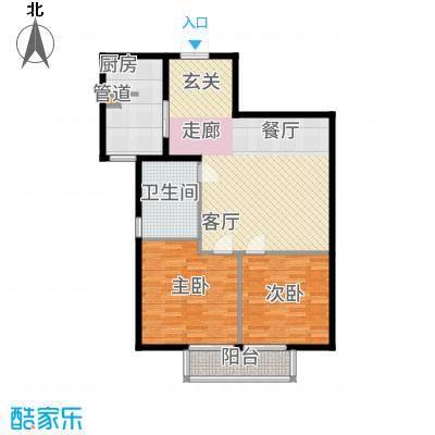 鸿盛凯旋门94.49㎡三期B2户型