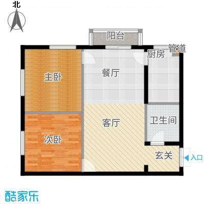 鸿盛凯旋门76.00㎡三期E户型