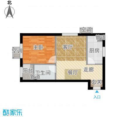 金隅汇星苑58.00㎡A-2户型