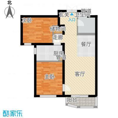 天洋城4代88.80㎡一期1、2、6、7、13号楼B1户型