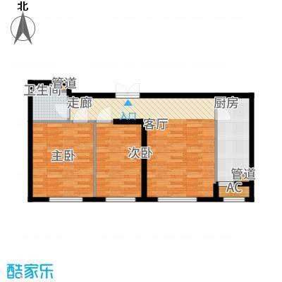 天润福熙大道81.39㎡A8号楼1-02户型