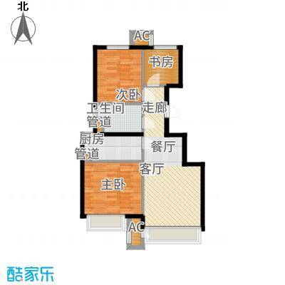 北京城建·上河湾88.00㎡北京城建・上河湾G6户型