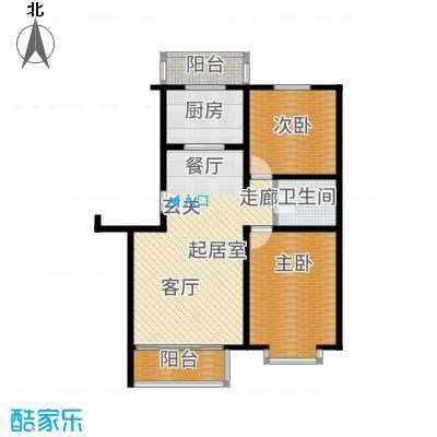 富锦嘉园88.00㎡五区7号楼F2-E-面积8800m户型