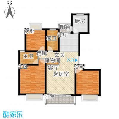 永达城市公寓125.73㎡A型面积12573m户型