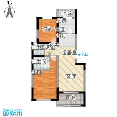 滨江茗园68.00㎡面积6800m户型