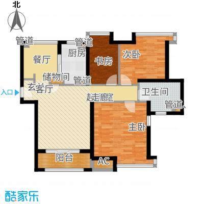 上海滩大宁城96.00㎡B2面积9600m户型