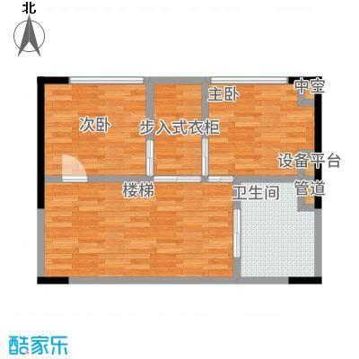 绿地卡米小城53.00㎡LOFT酒店式公寓平面2层户型