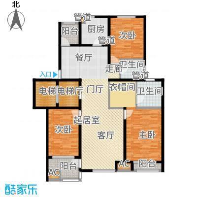 浦江坤庭133.09㎡花园洋房B户型