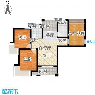 保利叶上海85.52㎡D1面积8552m户型