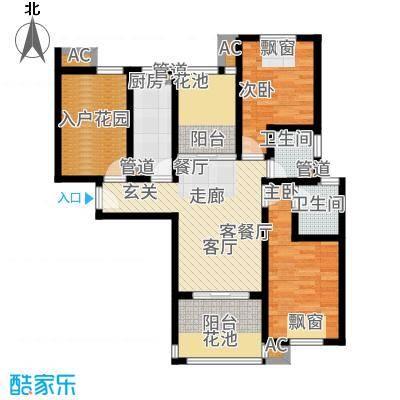保利叶上海89.00㎡B3面积8900m户型
