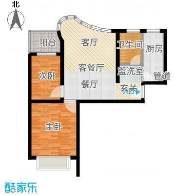 万邦都市花园74.56㎡上海五期面积7456m户型