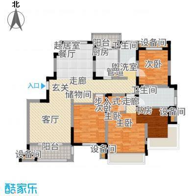 同济融景雅苑144.77㎡E1平面图户型