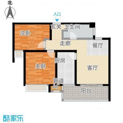 陆家嘴锦绣前城82.00㎡户型