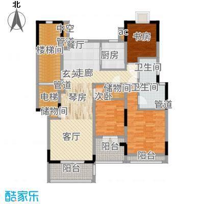 保集澜湾123.00㎡5#洋房八层户型