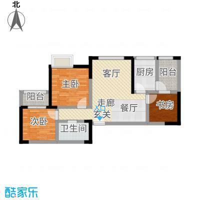 成都A区84.00㎡3、4、5、6#楼3面积8400m户型