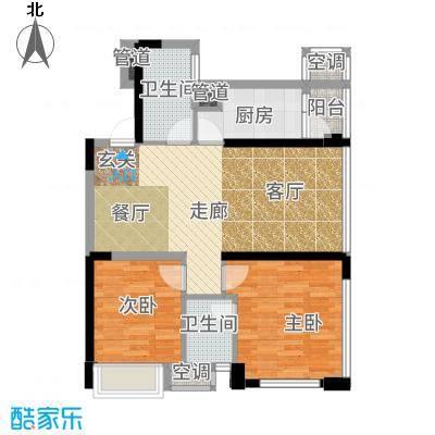 时代晶科名苑92.00㎡三期15号楼面积9200m户型