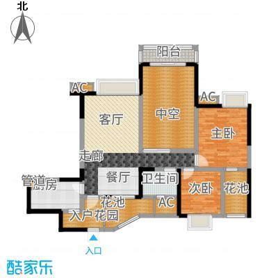 中海兰庭89.00㎡N型奇数层经典墅面积8900m户型