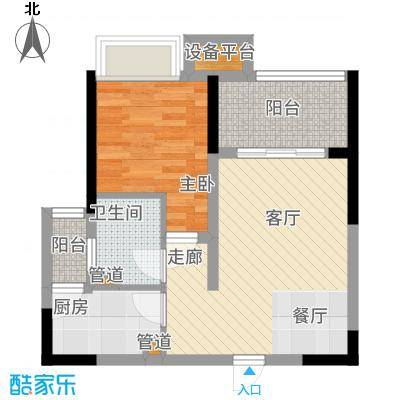 ICON尚郡58.93㎡一期5栋标准层B2户型