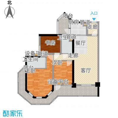 中德英伦城邦92.00㎡一期K区1、2号楼5-27V户型