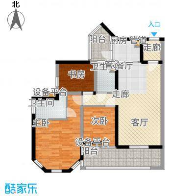 中德英伦城邦92.00㎡一期K区1、2号楼6-28层V户型