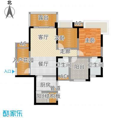 保利星座101.00㎡三期14号楼标准层7-1-01户型