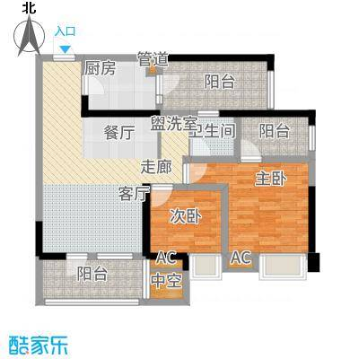 司南91.00㎡一期9号楼标准层M户型