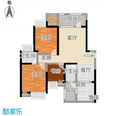 司南113.00㎡一期9号楼标准层K户型