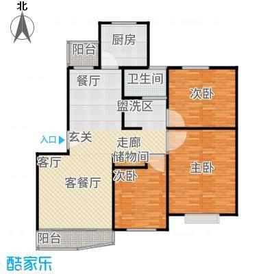 陆家嘴新景园114.38㎡房型: 三房; 面积段: 114.38 -128.61 平方米;户型