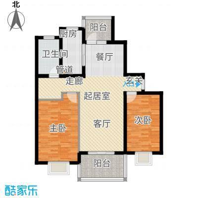 一品新筑一期94.66㎡房型: 二房; 面积段: 94.66 -104.93 平方米;户型