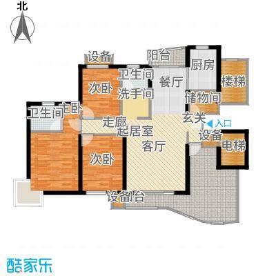 金色西郊城二期110.00㎡房型: 三房; 面积段: 110 -142 平方米; 户型