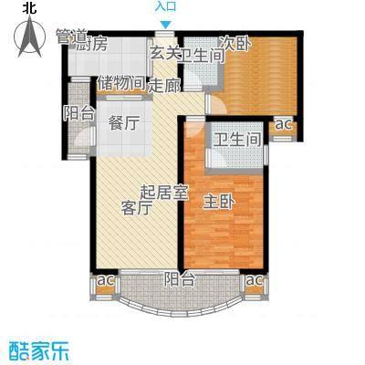 上海康城(三期)90.00㎡房型: 二房; 面积段: 90 -106 平方米; 户型