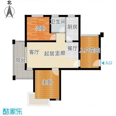 保利叶上海--146套-宝山房地(2009)预字0427号户型2室1卫1厨