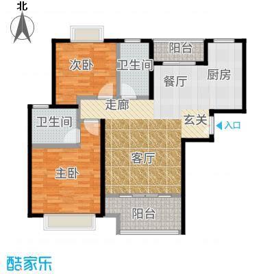盛世宝邸--55套-宝山房地(2009)预字0099号户型2室2卫