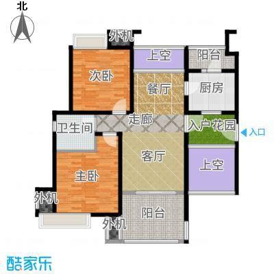 保利海上五月花90.00㎡二房二厅一卫-92平方米-嘉定房地(2009)预字0304号户型