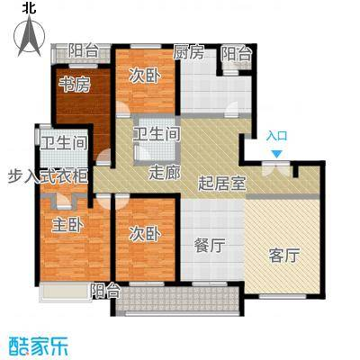 陆家嘴锦绣前城户型4室2卫1厨